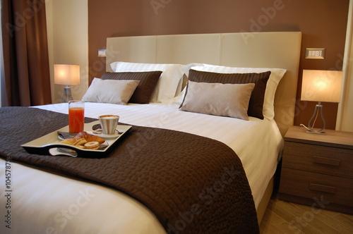 Fotografie, Obraz  Colazione romantica sul letto