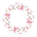 Delicate floral set. Round frame 40 - 104578964