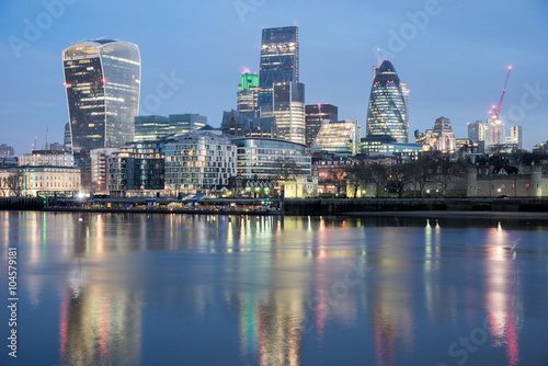 London Skyline from River Thames Canvas Print