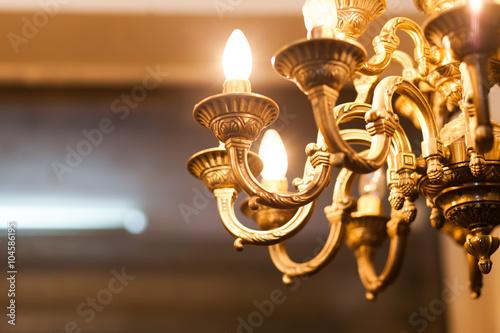 Fotomural old decorative chandelier