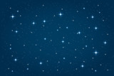 Blue night starry background. Vector horizontal design template