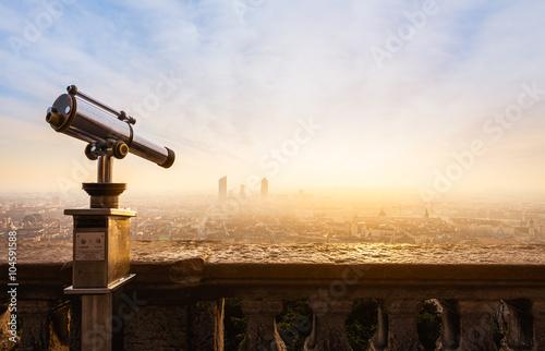 mata magnetyczna Lyon, vue de la ville de Lyon