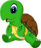 illustration of Cute turtle cartoon