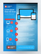 Vector Business Flyer Design Template for Mobile Application or New Smartphone. Vector Brochure Design Layout Template. Red and Blue Colors