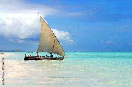 In de dag Zanzibar Tanzania,Zanzibar.