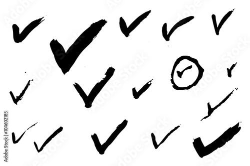 Fotografie, Obraz  Check Marks - Hand Painted Marks