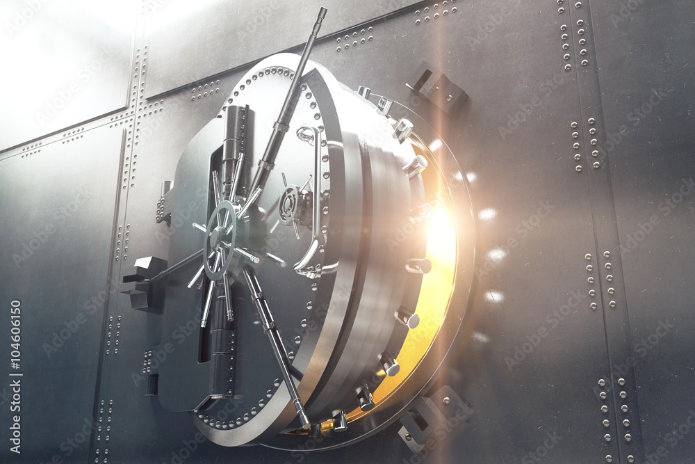 Fototapety, obrazy: Closeup of bank vault door