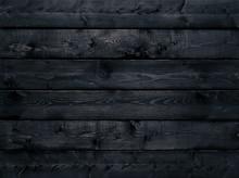 Dark Black Wood Texture Background