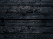 Dark Black Wood Texture Backgr...