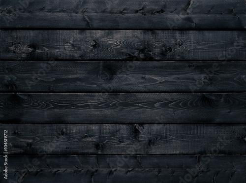 Garden Poster Wood Dark black wood texture background