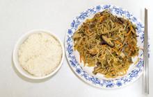 Japchae With Rice Bowl