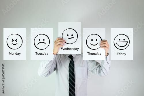 Fotografie, Obraz  Weekly work emotion