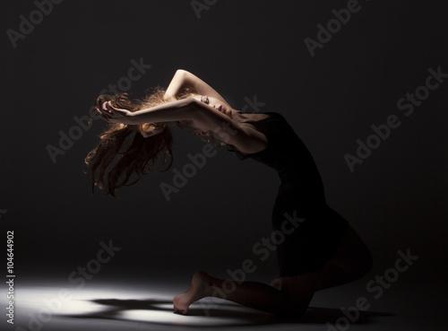 Foto op Plexiglas Gymnastiek Beautiful ballet dancer
