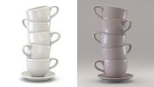3d Coffee Cups