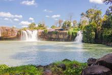 Big Beautiful Waterfall In Dak Lak Province, Vietnam