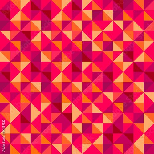 Foto op Aluminium ZigZag Geometric Mosaic Pattern I