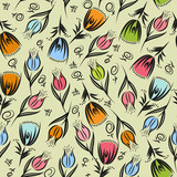 Seamless floral vector pattern. Eps 10 format