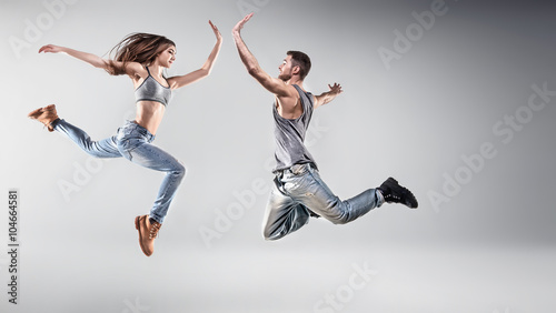 Küchenrückwand aus Glas mit Foto Tanzschule Portrait of a young dancing couple