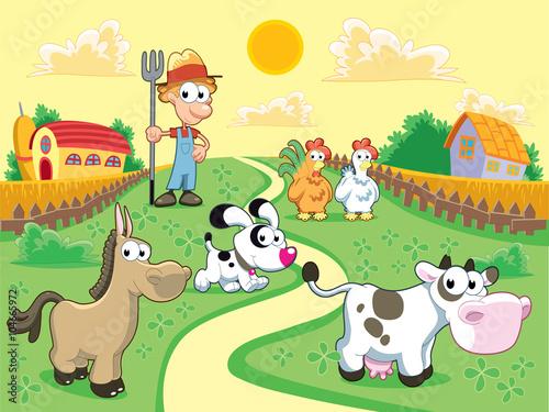 Das Leben auf der Farm. Glück und Energie.