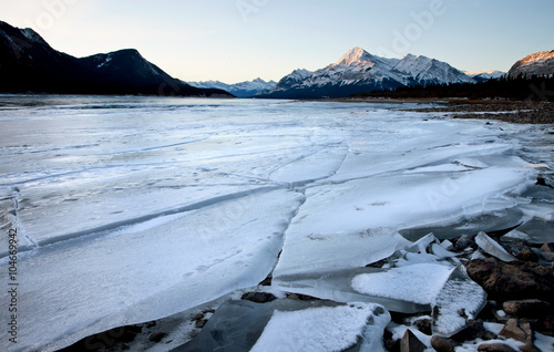 Foto  Abraham Lake Winter