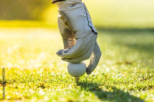 Poster Golf Close-up of golf ball.