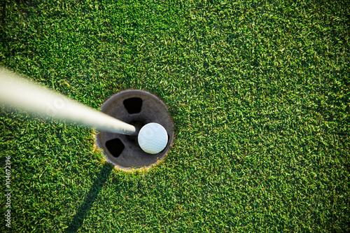 Foto auf Gartenposter Golf Close-up of golf ball.