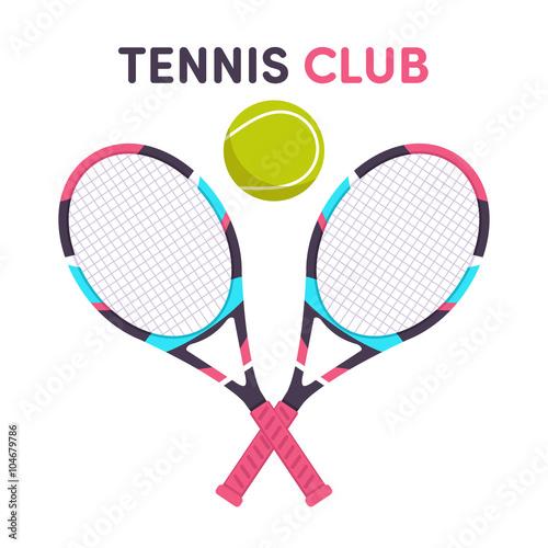 Tennis, racket, ball - 104679786