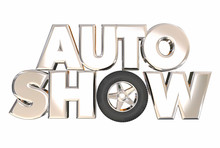 Auto Show New Model Vehicles Cars Display Exhibition 3d Words