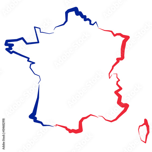Photo  Francja - mapa