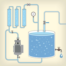 Scheme With Water Tank, Motor,...