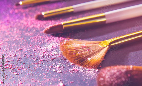 Photo  sets makeup brush for professional makeup artist
