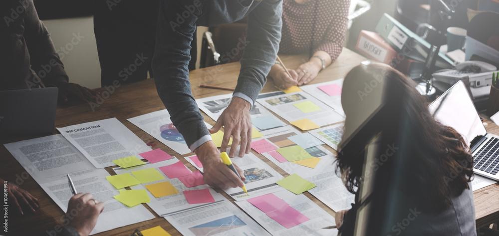 Fototapeta Business people planning strategy