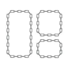 Silver Chain Frames. Vector