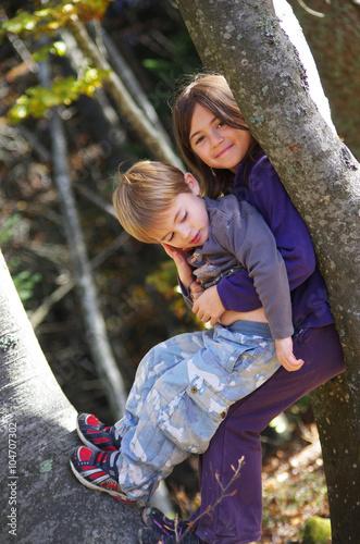 Fotografie, Obraz  sortie nature - frère et soeur