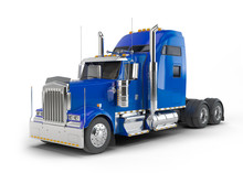Blue American Truck Isolated O...