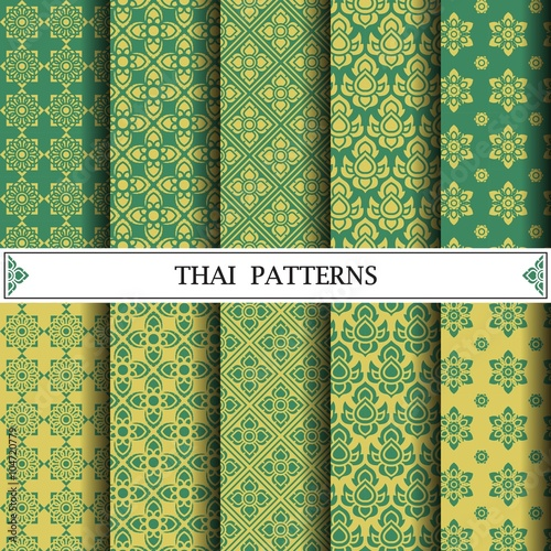 Foto  Thai pattern, pattern fills, web page background, surface textur