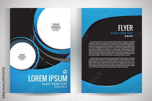 Fotografía  Abstract vector modern flyers brochure / annual report /design templates / stati