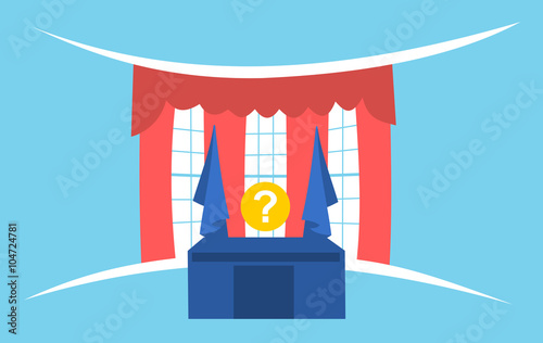 Fotografia United States presidential election - Oval office and question mark instead of p