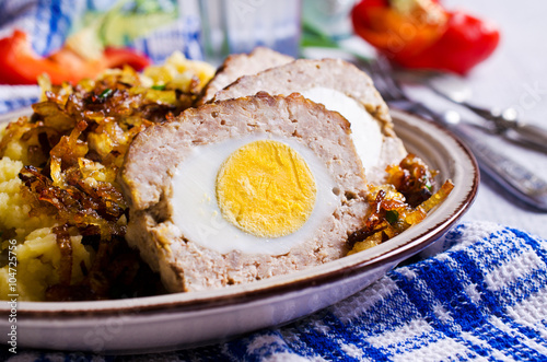 Photo  Meat Loaf with egg