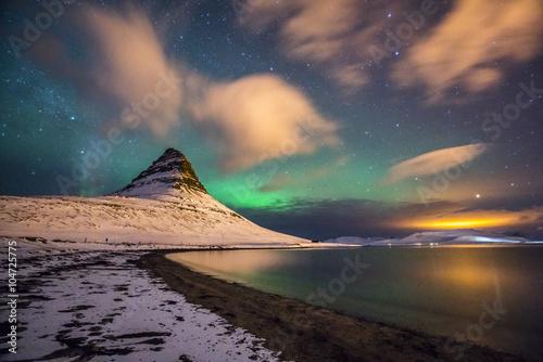 Keuken foto achterwand Noorderlicht Nordlichter in Island