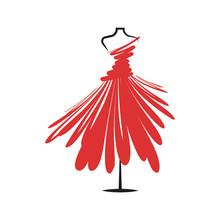 Dummy Dress Illustration Vector