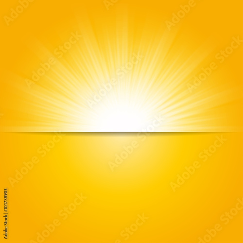 Bright Sunbeams Shiny Summer Background With Vibrant Yellow Orange Colors