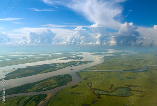 Amur river in Russia near Khabarovsk Canvas Print