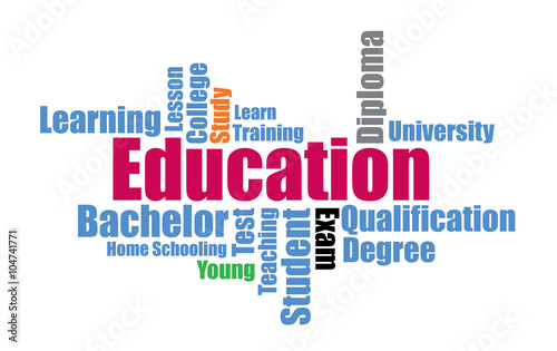 Fotografía  教育の文字のかたまり Education word cloud