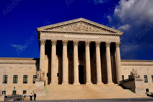 Washington, DC - April 9, 2014:  Neo-classical west front of the United States S Poster
