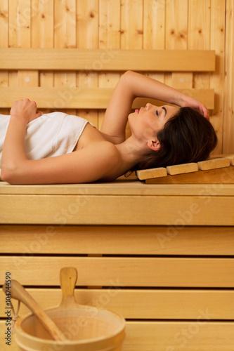Fotografie, Obraz  Woman in sauna