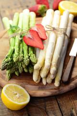 Panel Szklany Warzywa Spargel Zitrone