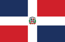 Dominican Republic Flag.