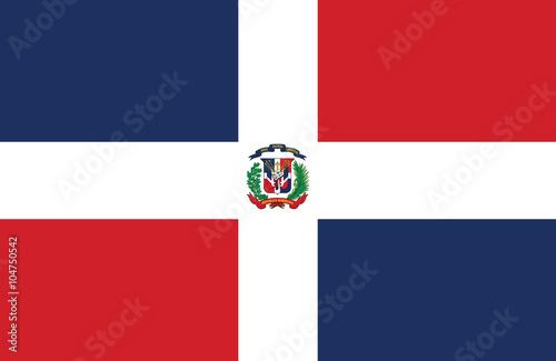 Cuadros en Lienzo  Dominican Republic flag.