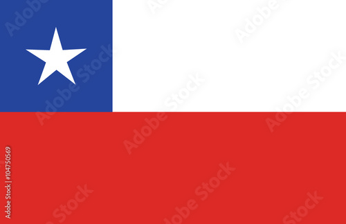 Cuadros en Lienzo Chilean flag.